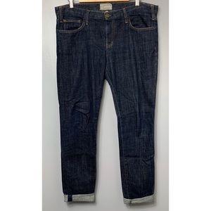 CURRENT ELLIOTT The Roller Dark Wash Straight Jean